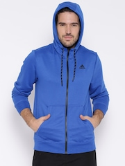 Adidas Blue Hooded Training Jacket