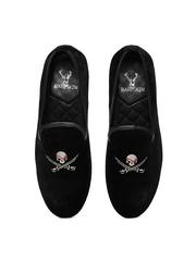 BARESKIN Men Black Velvet Casual Shoes
