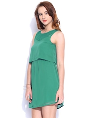 ONLY Green Fit & Flare Dress