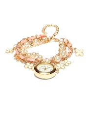 ToniQ Women Gold-Toned & White Bracelet Watch AWPRW002 A