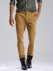 Breakbounce Brown Street Snug Fit Casual Trousers