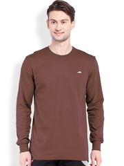 2go ACTIVE GEAR USA Brown Relaxed Fit Sports T-shirt