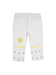 Jazzup Girls Yellow & White Clothing Set