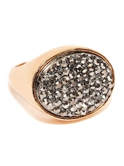 Accessorize Gold-Toned & Gunmetal-Toned Beaded Ring