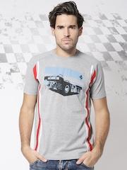 Ferrari Grey Melange Sebring Printed T-shirt