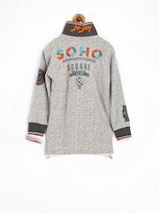 Jn Joy Boys Grey Printed Polo T-shirt