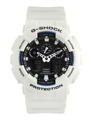 CASIO G-Shock Men White Analogue & Digital Watch G345 GA-100B-7ADR