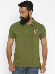 Ed Hardy Olive Green Polo T-shirt