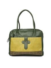 Baggit Olive Green Shoulder Bag with Laptop Sleeve