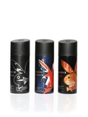 Playboy Men Pack of 3 Deo Body Sprays