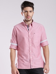 Tommy Hilfiger Pink Custom Fit Smart Casual Shirt