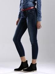 GUESS Blue Washed Skinny Cropped Jeans