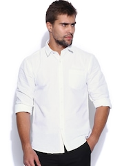 TWILLS White Scape Casual Shirt