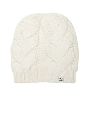 PUMA Women Off-White Heavy Knit Beanie