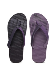 PUMA Unisex Purple & Grey Flip-Flops