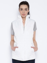 PUMA White ESS Padded Sleeveless Jacket
