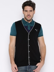 PUMA Black Sleeveless Cardigan