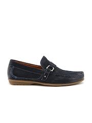 Steve Madden Men Navy Tavis Leather Loafers