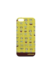 Creative Cases Unisex Yellow Printed iPhone 5/5S Phone Cover
