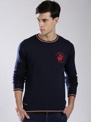 Santa Monica Men Navy & Maroon Sweater