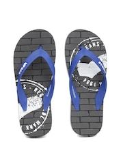 GAS Men Blue & Grey Van Printed Flip-Flops