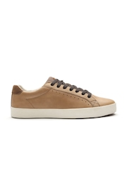 ALDO Men Brown Solid Regular Sneakers