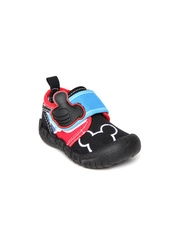 Kittens Boys Black & Red Casual Shoes