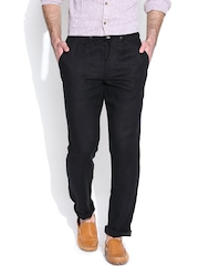 Jack & Jones Black Linen Casual Trousers