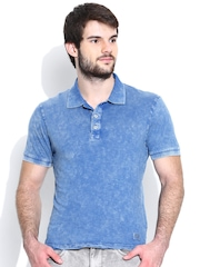 Jack & Jones Blue Washed Polo T-shirt