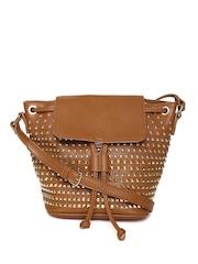 Parfois Brown Studded Sling Bag