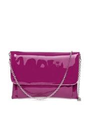 Parfois Wine-Coloured Glossy Sling Bag