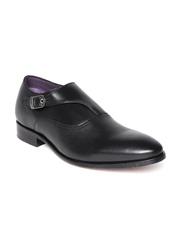 Louis Philippe Men Black Leather Formal Shoes