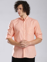 French Connection Peach-Coloured Casual Shirt