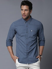 French Connection Men Blue Printed Casual Shirt