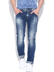 SPYKAR Blue Washed Low-Rise Rico Fit Jeans