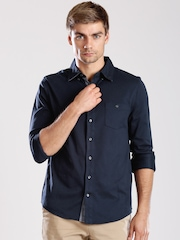 Tommy Hilfiger Navy Slim Fit Casual Shirt