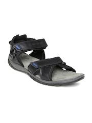 Woodland ProPlanet Men Black Leather Sports Sandals