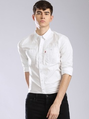 Levi's White Slim Fit Casual Shirt