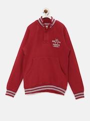 Allen Solly Kids Boys Red Pullover Sweatshirt