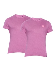 Playboy Pack of 2 Pink Lounge T-shirt LW111