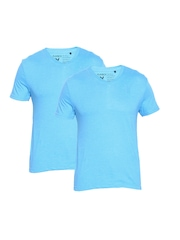 Playboy Pack of 2 Blue Lounge T-shirts LW202