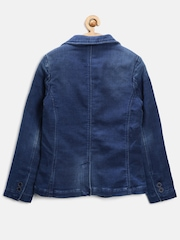United Colors of Benetton Boys Blue Washed Denim Blazer