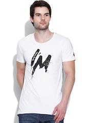 Being Human Clothing White & Black Printed T-shirt