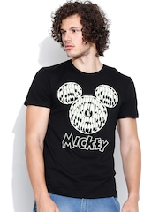 Mickey Black Printed T-shirt