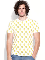 Simpsons White Printed T-shirt