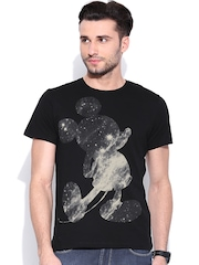 Mickey Black Graphic Print T-shirt