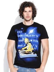 Simpsons Black Graphic Print T-shirt