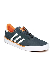 Adidas Men Teal Green Triad Canvas Shoes