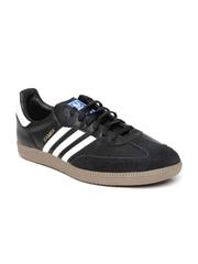 Adidas Originals Men Black Samba Leather Casual Shoes