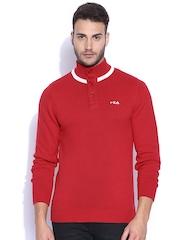 FILA Red Lanus Sweater